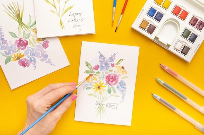 Watercolor card ideas